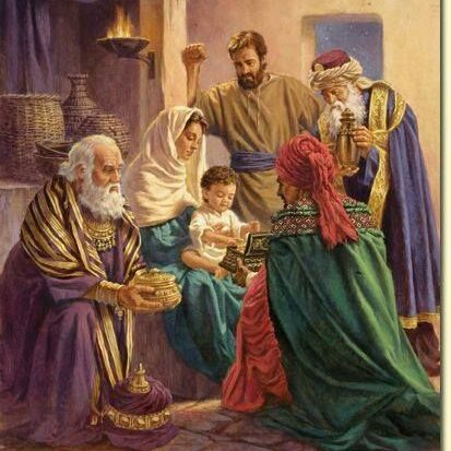 wise men with Jesus